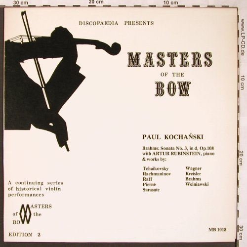 Kochanski,Paul: Masters of the Bow, Vol.1, Discopaedia, Edition 2(MB 1018), CDN,  - LP - L6213 - 9,00 Euro