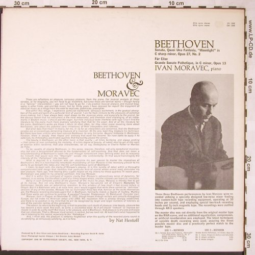 Beethoven,Ludwig van: Sonatas,Moonlight,Pathetique, Connoisseur(CS 1566), US,  - LP - L6240 - 12,50 Euro