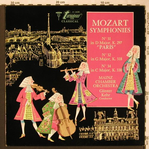 Mozart,Wolfgang Amadeus: Sinfonien Nr.31,32 & 34, Turnabout(TV 34240), US,  - LP - L6271 - 6,00 Euro