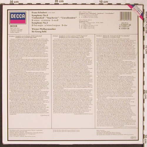 Schubert,Franz: Symphony No.8 & 5 -Unfinished -D759, Decca(6.43217 AZ), D,  - LP - L6294 - 7,50 Euro