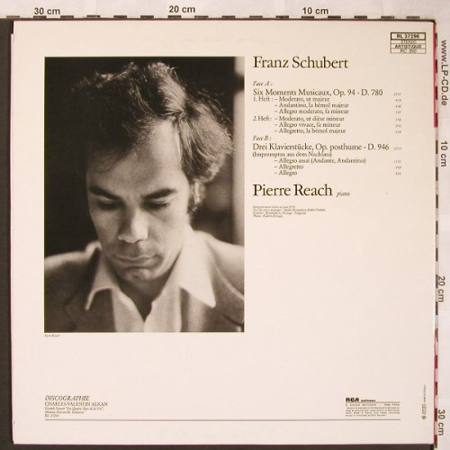 Schubert,Franz: 6 Moments Musicaux,3Klavierst.,Foc, RCA Red Seal(RL 37296), F, 1979 - LP - L6316 - 7,50 Euro