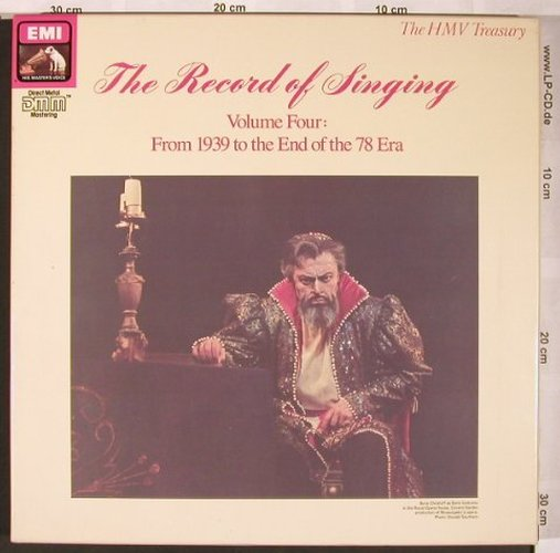 V.A.The Record Of Singing Vol.4: From 1939 to he End of the 78 Era, EMI(EX 7 69741 1), UK, Box, 1989 - 8LP - L6323 - 9,00 Euro