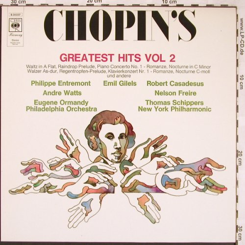 Chopin,Frederic: Greatest Hits Vol.2, CBS(S 30 037), NL, 1974 - LP - L6412 - 3,00 Euro