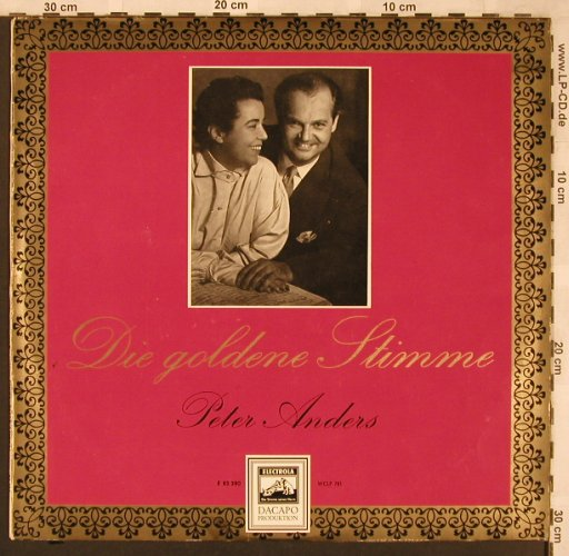 Anders,Peter: Die goldene Stimme, Electrola/Dacapo(E 83 380), D,  - LP - L6738 - 5,00 Euro