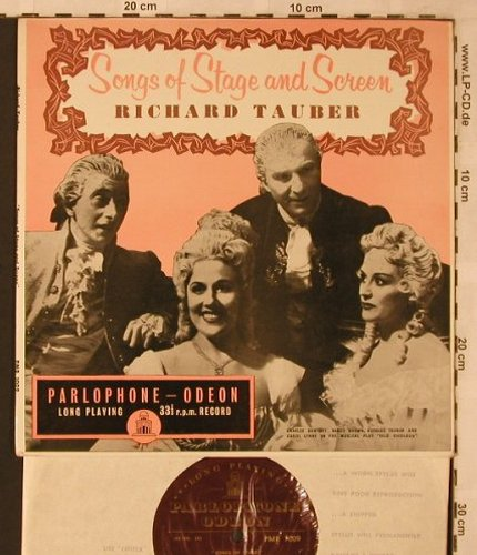 Tauber,Richard: Songs of Stage and Screen, Parlaphone-Odeon(PMB 1009), UK,  - 10inch - L6775 - 5,00 Euro