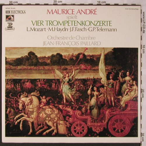 Andre,Maurice: Vier Trompetenkonzerte, EMI(SFGLP 78 415), D,Club Ed., 1972 - LP - L6862 - 6,00 Euro