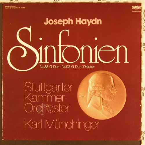 Haydn,Joseph: Sinfonien Nr.88 & 92 Oxford, Intercord, Club Ed.(26 825-0), D, 1980 - LP - L6984 - 5,00 Euro