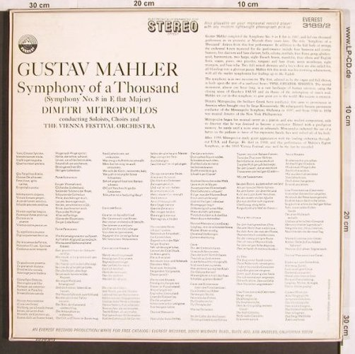 Mahler,Gustav: Symphony of a Thousand(No.8),Box, Everest Records(3189/2), US,  - 2LP - L7009 - 9,00 Euro