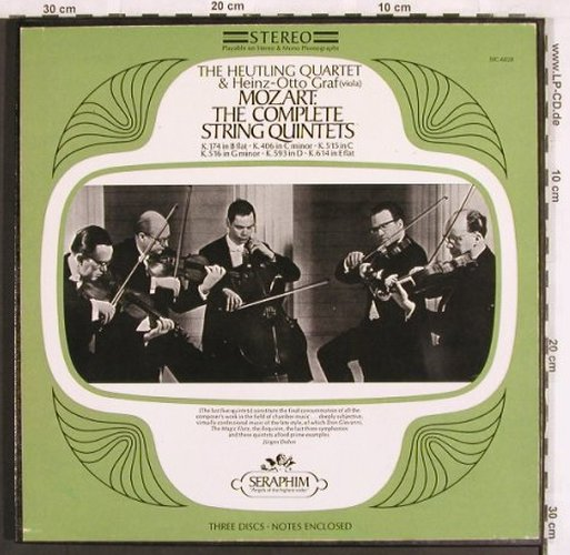 Mozart,Wolfgang Amadeus: The Complete String Quintets, Box, Seraphim(SIC-6028), US, vg+/m-,  - 3LP - L7022 - 12,50 Euro