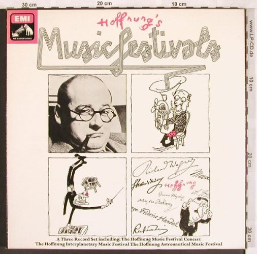 Hoffnung's Musicfestivals: 1956,1958,1961, Box, No Booklet, EMI(SLS 5069), UK, 1961 - 3LP - L7330 - 9,00 Euro
