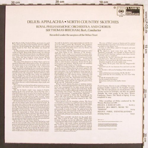 Delius,Frederick: Appalachia, North Country Sketches, CBS Classics(61 354), UK, 1973 - LP - L7381 - 6,00 Euro