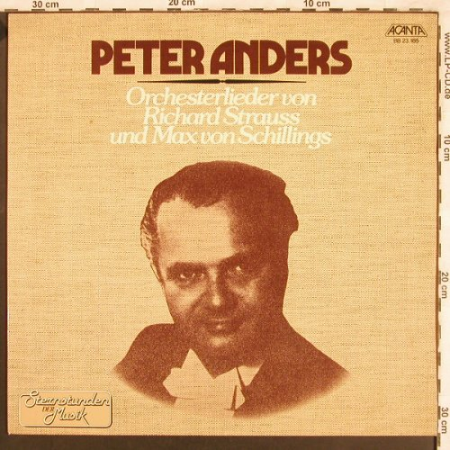 Anders,Peter: Orchesterlieder-Strauss,vSchillings, Acanta(BB 23.185), D, 1979 - LP - L7558 - 7,50 Euro