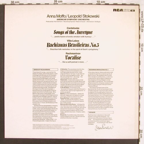Moffo,Anna: Songs of the Auvergne, RCA Red Seal(LSB 4114), UK, Ri,  - LP - L7564 - 7,50 Euro