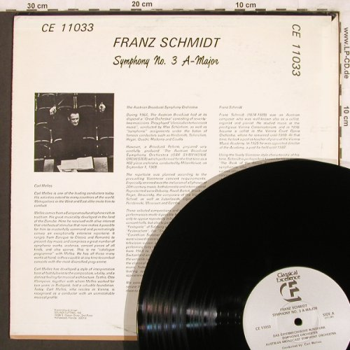 Schmidt,Franz: Symphony No.3 A-Major, Classical Exellence(CE 11033), US, 1977 - LP - L7646 - 6,00 Euro