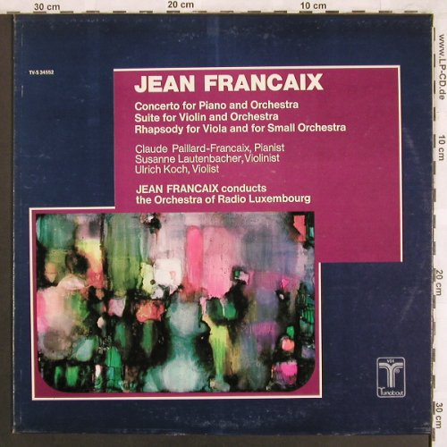 Francaix,Jean: Concerto for Piano and Orchestra, Turnabout Vox(TV-S 34552), US, 1974 - LP - L7698 - 9,00 Euro