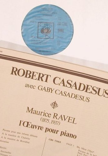 Ravel,Maurice: L'Oeuvre pour piano, Box, CBS(77 346), F, 1972 - 3LP - L7730 - 20,00 Euro