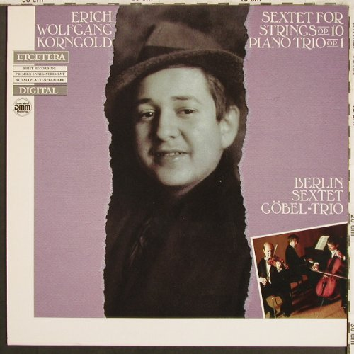 Korngold,Wolfgang: Sextet for Strings op.10/PianoT.Op1, Etcetera(ETC 1043), NL, 1986 - LP - L7737 - 9,00 Euro