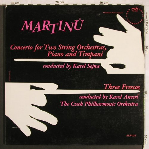 Martinu,Bohuslav: Concerto for Two String Orch.,Piano, Artia(ALP-135), US, vg+/m-,  - LP - L7809 - 5,00 Euro