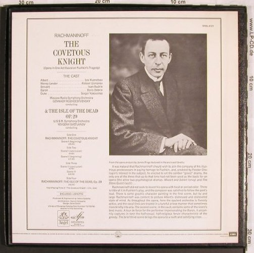 Rachmaninoff,Sergei: The Covetous Knight & op.29, Box, Melodia/Angel(SRBL-4121), US,  - 2LP - L7841 - 9,00 Euro
