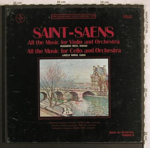 Saint-Saens,Camille: Works for Violin&Orch,Cello&Orch, VoxBox, Vol.1(QSVBX 5134), US,m /vg+,  - 3LPQ - L7859 - 15,00 Euro