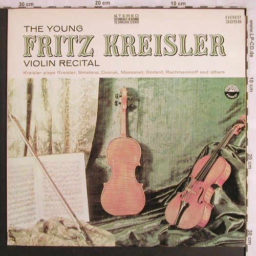 Kreisler,Fritz: The Young,guest John McCormack, Everest(3258), US,  - LP - L8015 - 7,50 Euro