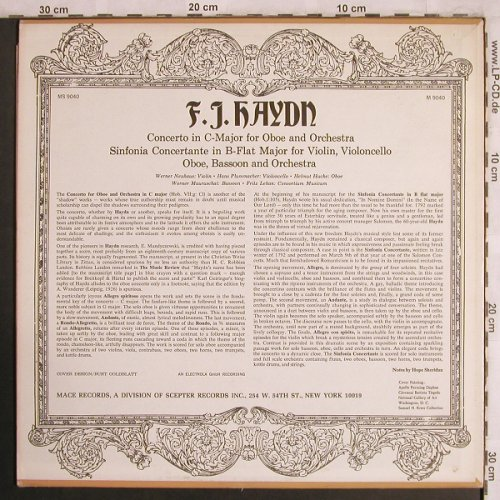 Haydn,Joseph: Concerto in C-Major for Oboe&Orch., Mace(M 9040), US, Mono,  - LP - L8039 - 7,50 Euro