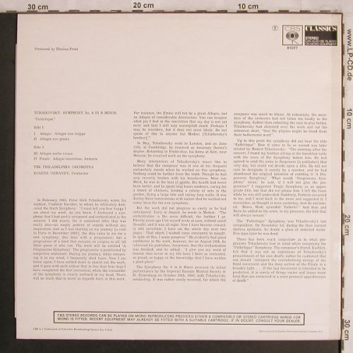 Tschaikowsky,Peter: Symphonie No.6 B Minor, CBS(61077), UK,  - LP - L8082 - 6,00 Euro