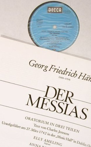Händel,Georg Friedrich: Der Messias, Box, Decca(6.35349 FK), D, Ri, 1976 - 3LP - L8339 - 9,00 Euro