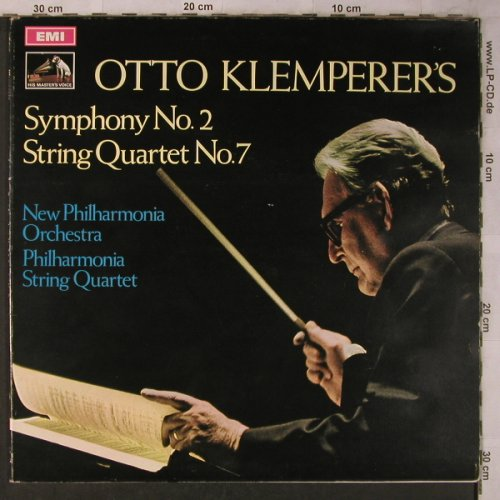 Klemperer,Otto: Symphony No.2, StringQuartet No.7, EMI(ASD 2575), UK, 1970 - LP - L8519 - 7,50 Euro