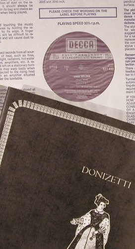 Donizetti,Gaetano: Anna Bolena, Box, Decca(SET 446/9), UK, 1970 - 4LP - L8737 - 17,50 Euro