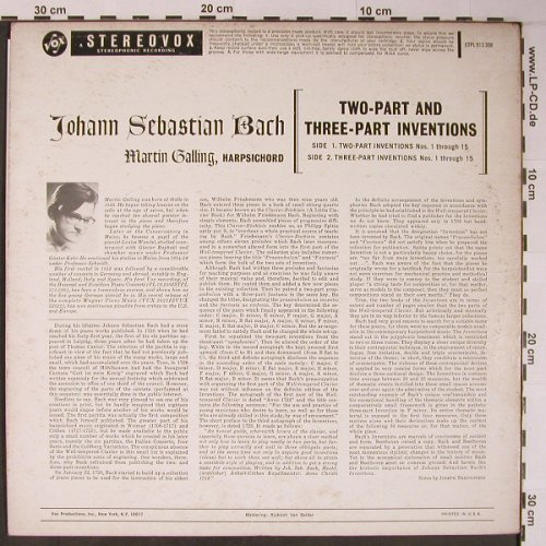 Bach,Johann Sebastian: Two-Part and Three-Part Inventions, Vox(STPL 512.330), US,  - LP - L8916 - 7,50 Euro