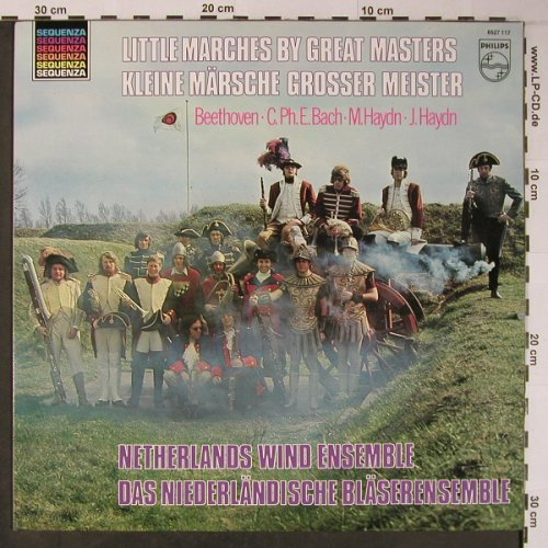Netherland Wind Ensemble: Little Marches by Great Masters, Philips,Sample-Stol,Stoc(6527 11), NL,Ri, 1972 - LP - L8917 - 6,50 Euro