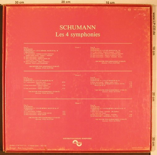Schumann,Robert: Les 4 symphonies, bad condition,Box, Sonopress Trianon(TRI33.330/31/32), F, vg-/vg-, 1983 - 3LP - L9070 - 7,50 Euro