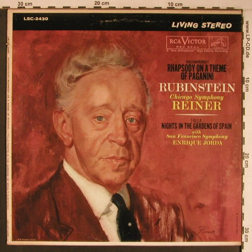 Rachmaninoff,Sergei / Falla: Rhapsody on a Th.ofPaganini op.43, RCA Red Seal(LSC-2430), US, 1960 - LP - L9185 - 11,50 Euro