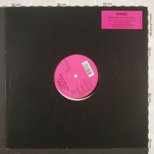 Mabel: Bum Bum*3+1(The Club Mixes), WEA(), D, 00 - 12inch - B8778 - 4,00 Euro