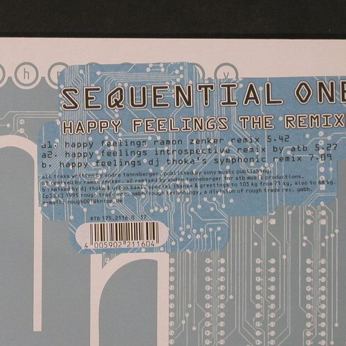Sequential One: Happy Feelings Remixes, RTD(175.2116.0), D, 1995 - 12inch - C2182 - 3,00 Euro