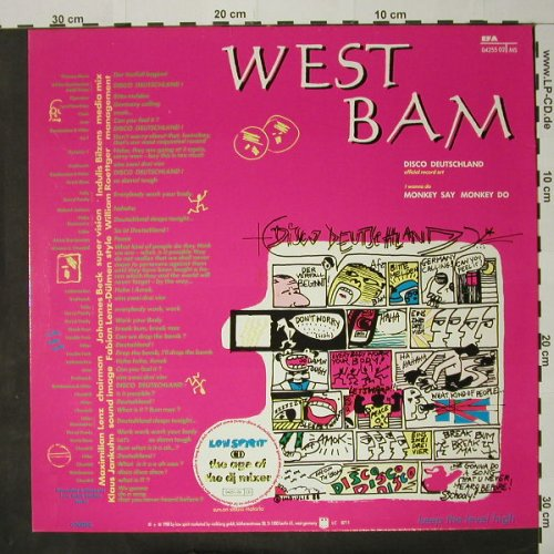 West Bam: Disco Deutschland+1, Low Spirit(04255 02), D, 1988 - 12inch - C8209 - 5,00 Euro