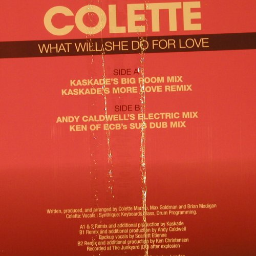 Colette: What She Will Do for Love *4, OM Record(OM-180VS), , FS-New, 2005 - 12inch - F2166 - 5,00 Euro