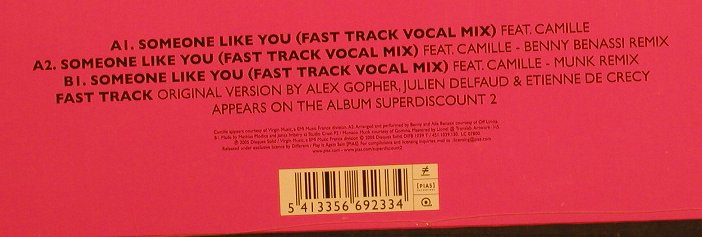 Superdiscount: Fast Track(Vocal Mix), FS-New, Disques Solid(DIFB 1039), , 2005 - 12inch - F2201 - 5,00 Euro