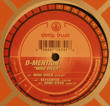 D-Mention: Mind Diver*2+1, FLC, Deep Blue(DBR015-6), D, 2000 - 12inch - F6991 - 4,00 Euro
