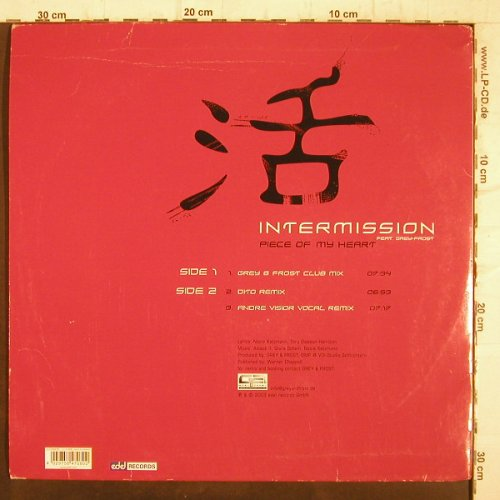Intermission: Piece of my Heart*3,f.Grey+Frost, Edel(0147080ERE), D,m-/vg+, 2003 - 12inch - F8931 - 3,00 Euro