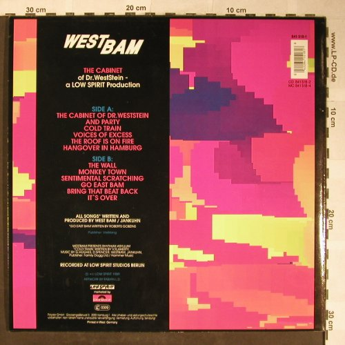"West Bam: The Cabinet,Lim.Ed.,+12"", Low Spirit/Polydor(841 518-1), D, 1989 - LP/12"" - H5538 - 9,00 Euro"