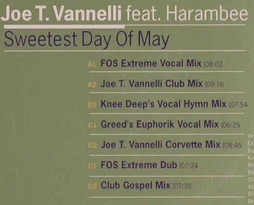 "Vannelli,Joe T. f. Harambee: Sweetest day of May, Foc, Kontor(056), D, 1999 - 12""*2 - X1772 - 7,50 Euro"