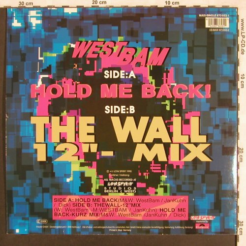 West Bam: Hold Me Back / The Wall, Low Spirit(873 653-1), D,  - 12inch - X3634 - 4,00 Euro