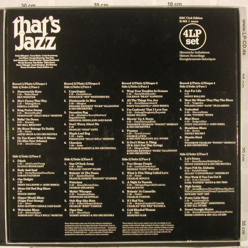 V.A.That's Jazz: Box, 48Tr.,Club Edition,31058 1mono, BRC(31 058 1), ,  - 4LP - A2750 - 10,00 Euro
