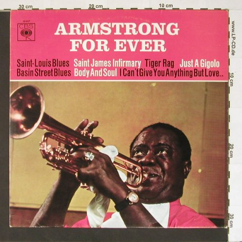 Armstrong,Louis: For Ever, CBS(52 027), D,  - LP - B6994 - 5,00 Euro