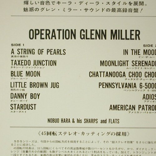 Hara,Nobuo & His Sharps And Flats: Operation Glenn Miller, Ri, Foc, King Record(45SDS-3), J, 67 - LP - C6279 - 14,00 Euro
