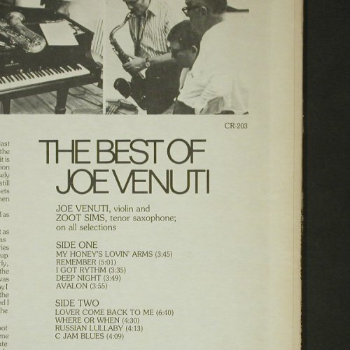 Venuti,Joe: The Best Of, Chiaroscuro(CR-203), US,  - LP - C6423 - 9,00 Euro
