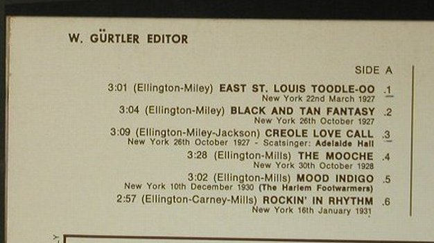 Ellington,Duke: The Best Of(1927-1941), Joker(SM 3056), I, 1971 - LP - C6891 - 4,00 Euro