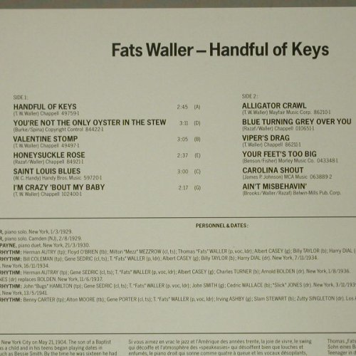 Waller,Fats: Handful Of Keys, RCA(CL 89805), D, 1986 - LP - C7076 - 5,00 Euro